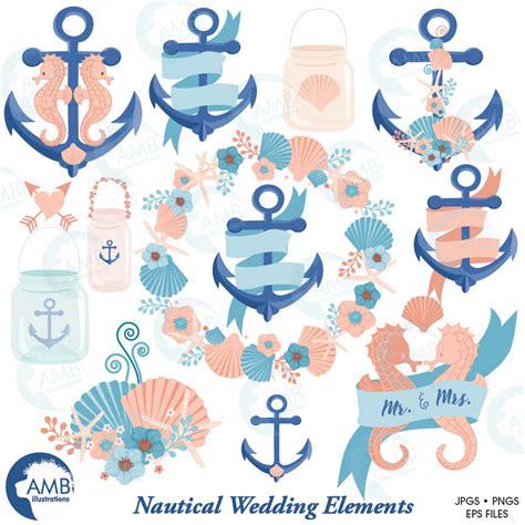 Nautical Wedding Clipart by Coastal Clipart Clipground