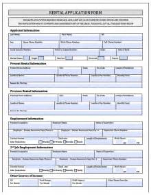 rental application template free new york rental application form pdf template