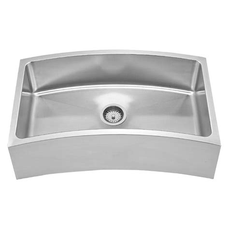 Stainless Steel Apron Front Kitchen Sink Whitehaus Collection Farmhouse Apron Front Stainless Steel 31 5 8 In Single Bowl Kitchen Sink