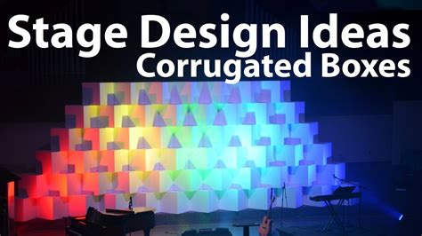 church stage lighting ideas church stage design ideas corrugated boxes youtube