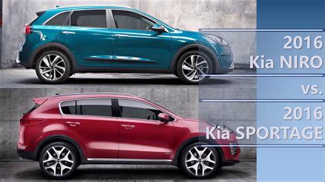 Kia Comparison 2016 Kia Niro Vs 2016 Kia Sportage Comparison