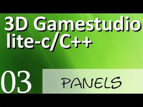 tutorial c deutsch 3d gamestudio lite c panels teil 3 deutsch german