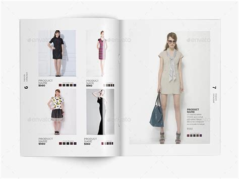 Fashion Catalogue Template V 1 By Sedhey Graphicriver Clothing Catalog Template Free