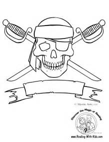 Skull And Crossbones Coloring Page sketch template
