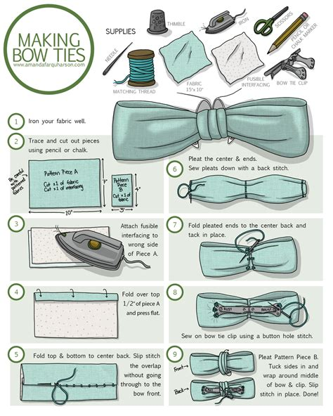 How To Make A Bow Tie Out Of Tissue Paper - how to make a clip on bow tie amanda farquharson