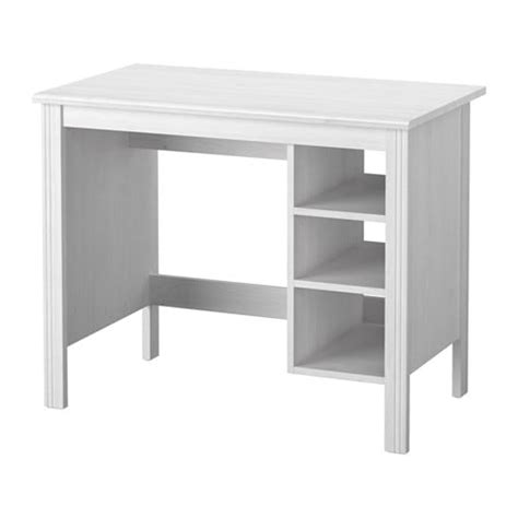 brusali desk white 90x52 cm ikea