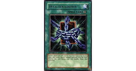 Lockdown Deck by Deck Lockdown Lodt En060 Unlimited Edition Yu Gi Oh Card