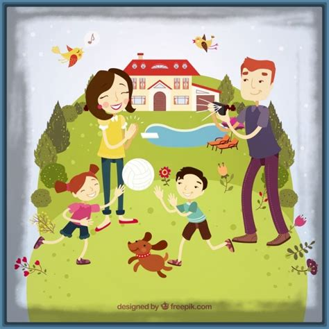 imagenes animadas de una familia feliz bonita imagen animada de una familia feliz imagenes de