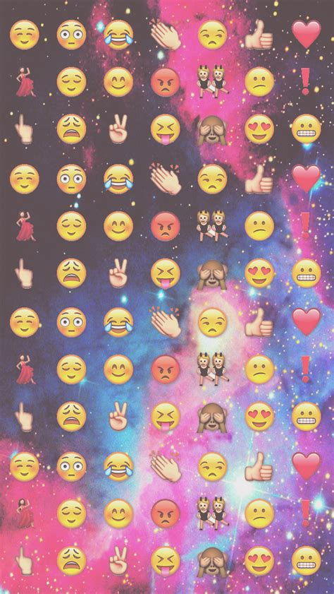Emoji Wallpaper For Ipod | wallpaper iphone ipod galaxy emojis by heysweetbieber on