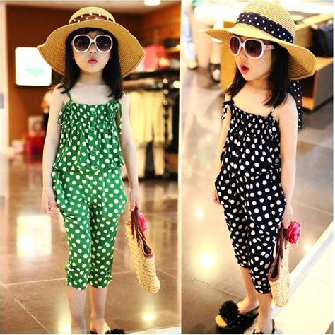 H Set Bibie Polka Kid new new summer clothing set polka dot clothes set