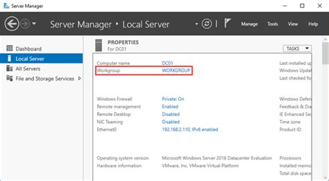 join windows server    active directory domain
