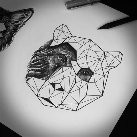 tattoo geometric face fantastic cool geometric tiger face tattoo design