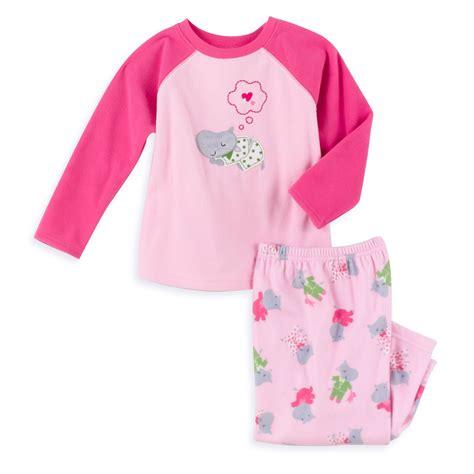 Hippo Sleepwear s toddler s 2 fleece hippo pajamas