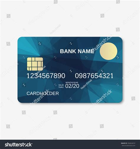 Credit Card Database Template Bank Card Credit Card Discount Card Design Template Abstract Geometric Background Stock