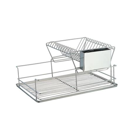 2 Tier Dish Rack Stainless Steel by Sandusky 2 Tier Wire Dish Rack In Chrome Wdr101812 The