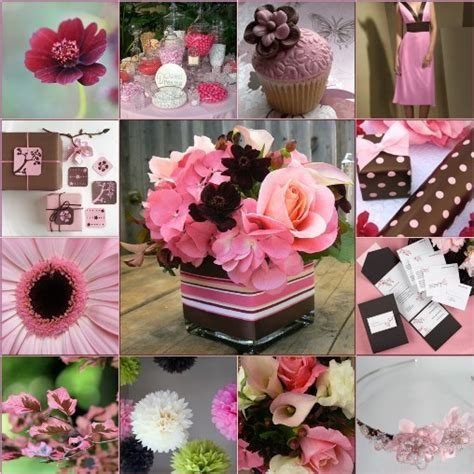 Pink Brown Wedding Ideas   Pink Brown Cocktail Party
