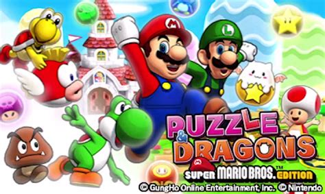 Nintendo 3ds Puzzle Dragons Z Mario Bros Edition pr nintendo launches two puzzle for nintendo 3ds nintendo