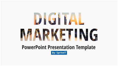 Digital Marketing Business Presentation By Spriteit Digital Marketing Ppt Template