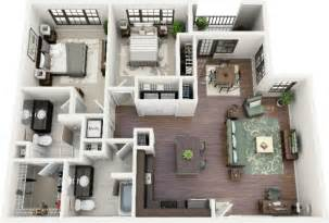 Square Footage Visualizer 2 bedroom apartment house plans