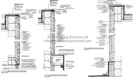 Sketches A Corrugated Bulkhead by Corrugated Sheet Wall Cladding Shop Drawings Detail