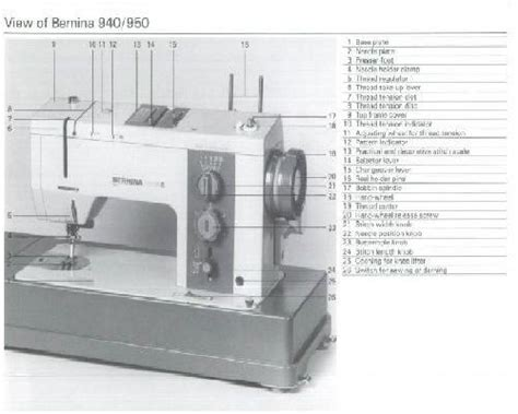 Bernina 940 950 INDUSTRIAL Sewing Machine Instruction Manual