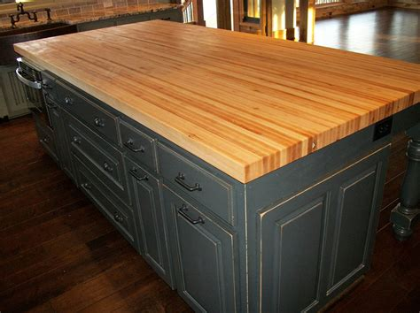 kitchen island butcher block top handcrafted solid wood kitchen cabinets healthycabinetmakers