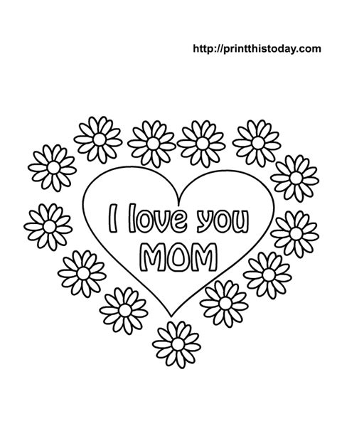 i love you mom printable coloring pages free mother s day coloring pages printable