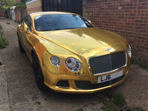 gold chrome bentley bentley gold wrap