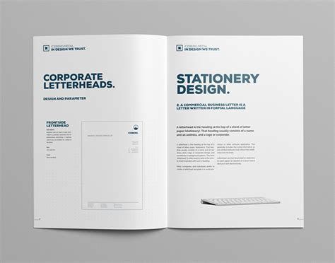 guide book layout elite corporate design manual guide on behance