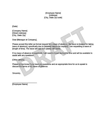 sle cover letter to send documents leave of absence letter leave of absence letter 8 free