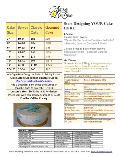 cupcake price list template pin cake pricing software ideas and designs cake on