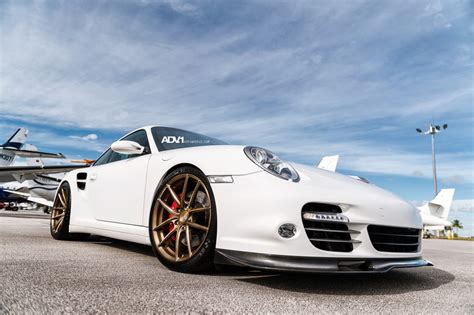 porsche white car white porsche 997 turbo on adv5 01sl wheels gtspirit