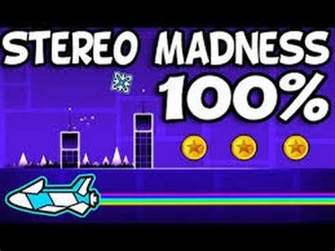 geometry dash full version stereo madness geometry dash stereo madness на 100 youtube