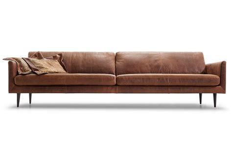 loungebank leder lederland aquino strak gelijnde leren loungebank