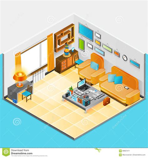 home interior design vector home interior design stock vector image 69607471