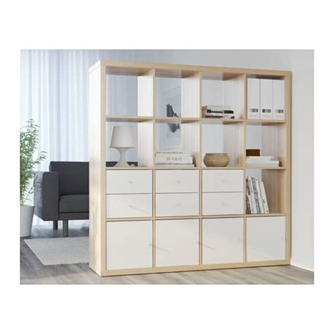 kallax shelving unit white stained oak effect 147x147 cm