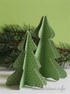 basteln mit papier weihnachten weihnachtsbaum in 3 d