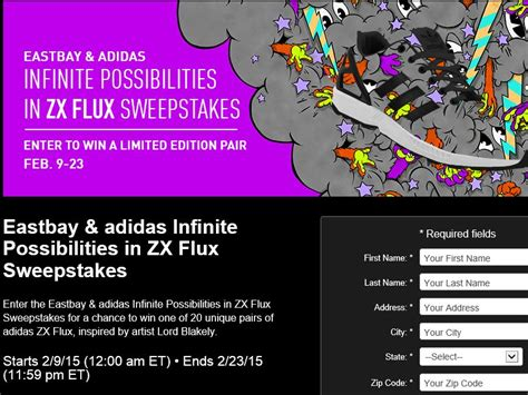 Adidas Sweepstakes - the eastbay adidas infinite possibilities in zx flux sweepstakes