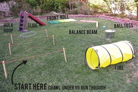 how to make a backyard obstacle course kids obstacle course how to create a backyard of fun for