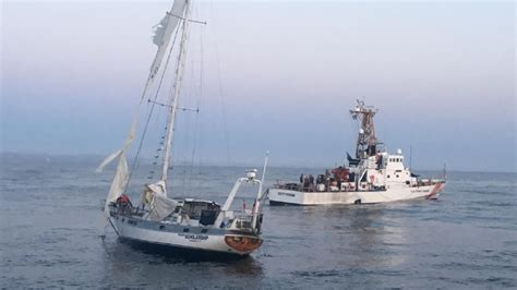 sailboat adrift sailboat adrift at sea for 3 days towed to oregon port kmtr