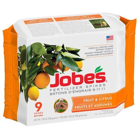 jobe s 2 2 lb fruit and citrus tree fertilizer spikes 9