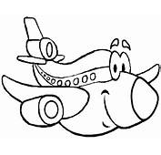 Transportation Cartoon Plane Colouring Pages Free