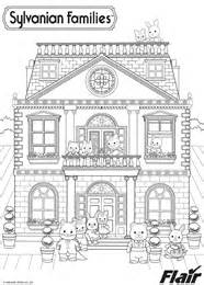 colouring page sylvanian families
