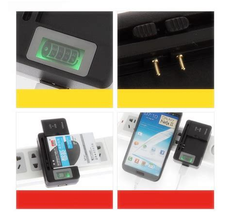 Universal Charging Usb Wall Dock Battery With Lcd Display Hitam with box universal lcd charger usb sync dock wall travel adapter for samsung galaxy s s2 s3 s4