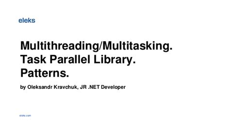 parallel patterns library vs openmp net multithreading multitasking