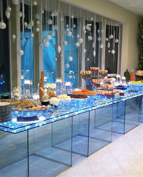 lighted acrylic food display tables food displays