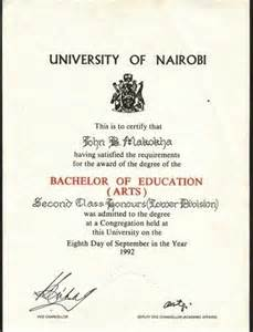 bachelor degree certificate sample related