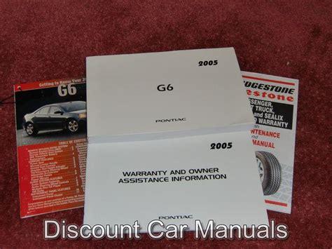 Find 2005 Pontiac G6 Owners Manual Portfolio 05