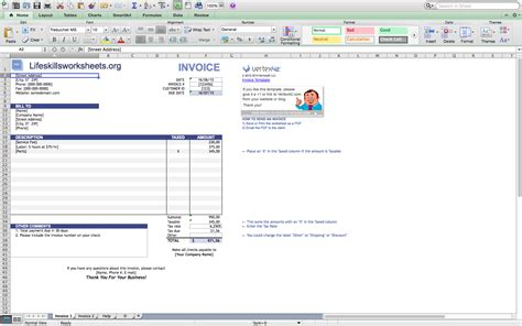 new microsoft invoice template excel free templates for word open