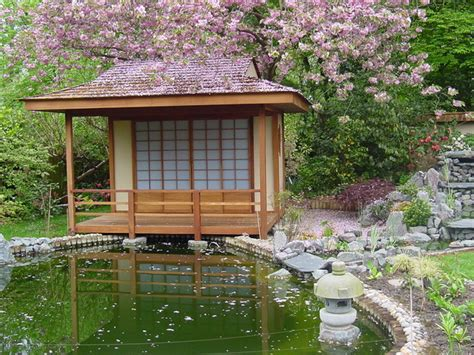Japanese Garden Shed by Japanese Teahouse And Koi Pond Brentwood